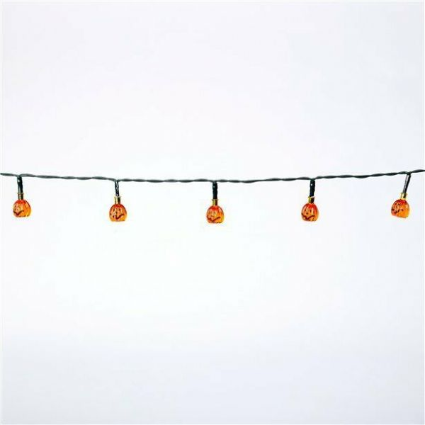 Halloween Mini LED Pumpkin Lights (1.2m)